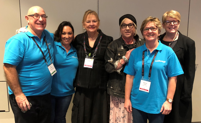 Wellways staff at theMHS conference in Adelaide