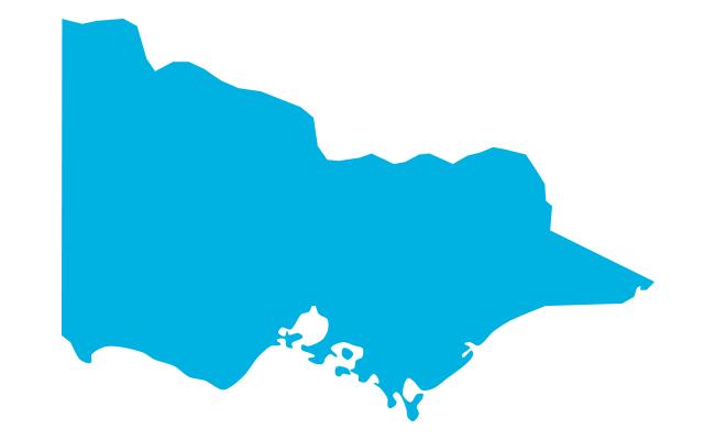 Map of Victoria, Australia