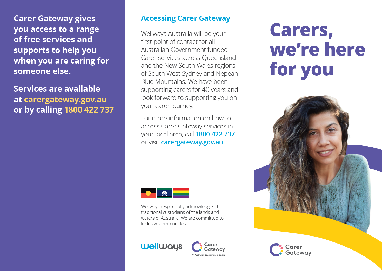 Carers, we're here for you brochure