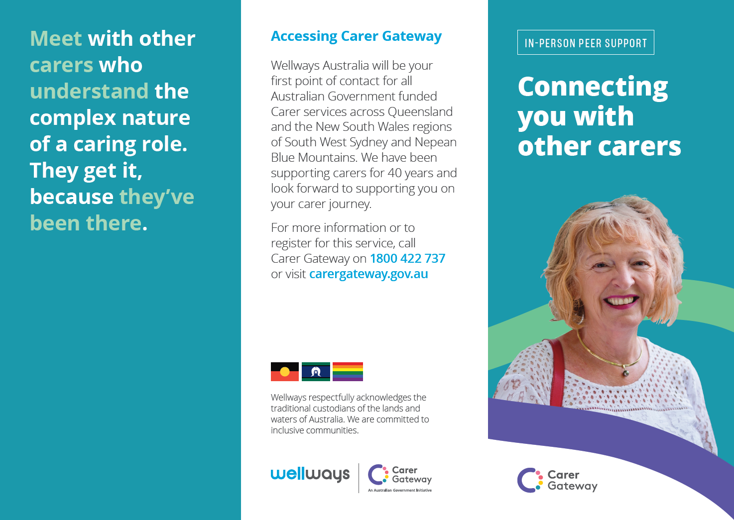 In-Person Peer Support brochure