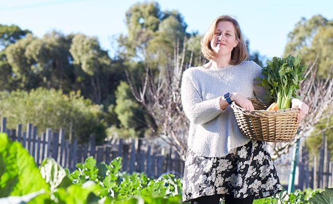 Woman on a community farm