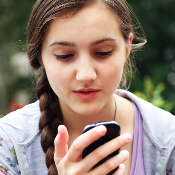 Young woman on a mobile phone