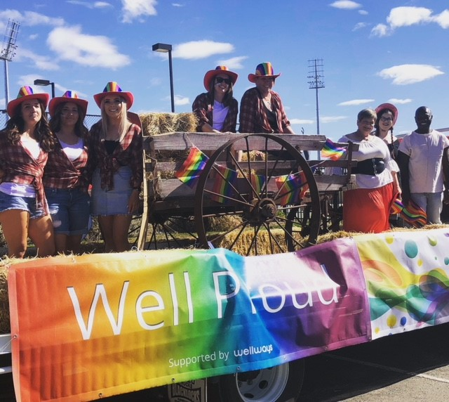 The Wellways team attending the Wagga Wagga Mardi Gras